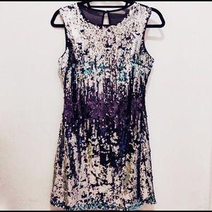✨HP✨ Purple sequin dress